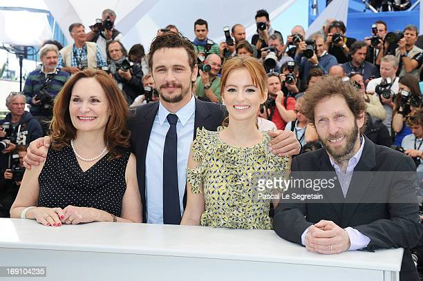 Actress Beth Grant, director and actor James Franco, actress Ahna O'Reilly and actor Tim Blake Nelson attends the photocall for 'As I Lay Dying' at...