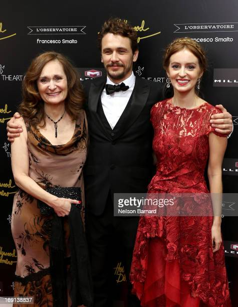 Actress Beth Grant, director James Franco and actress Ahna O'Reilly attend the Art Of Elysium PARADIS during the 66th Annual Cannes Film Festival at...