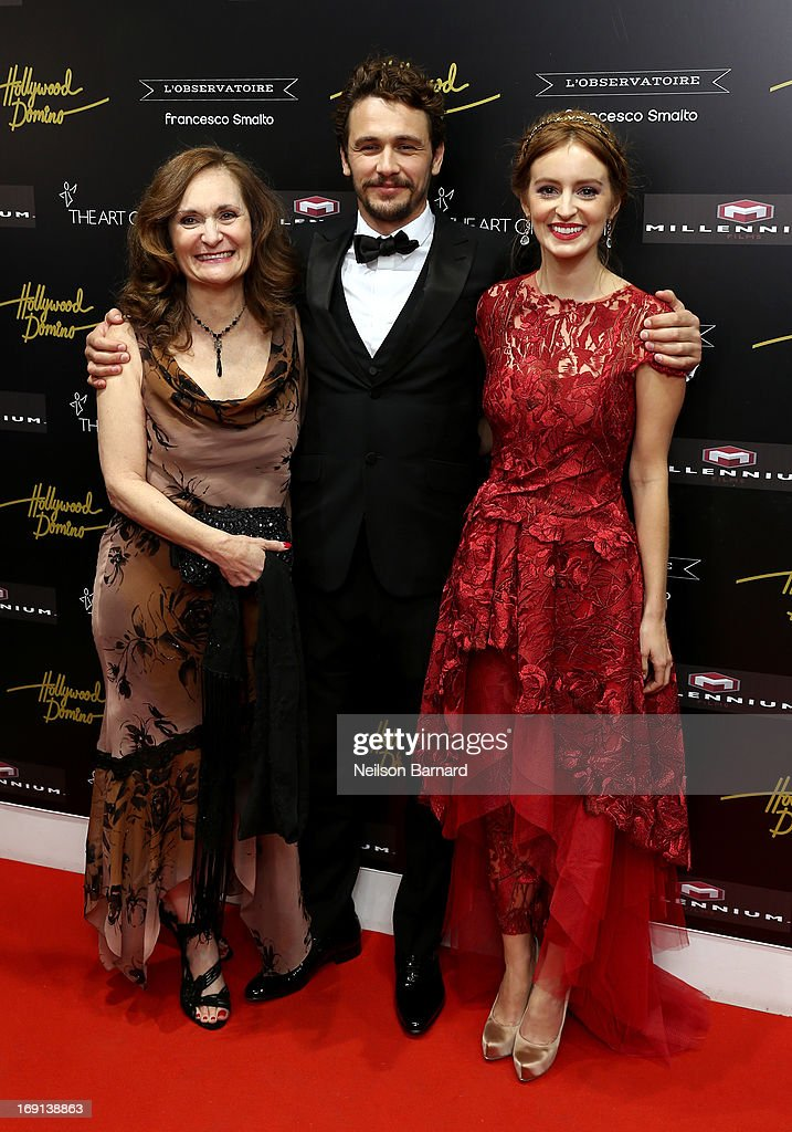 Actress Beth Grant, director James Franco and actress Ahna O'Reilly attend the Art Of Elysium PARADIS during the 66th Annual Cannes Film Festival at L' Oservatoire on May 20, 2013 in Cannes, France.