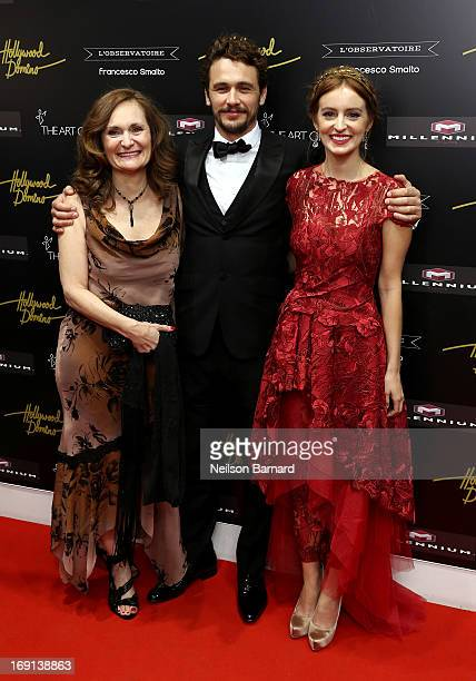Actress Beth Grant director James Franco and actress Ahna O'Reilly attend the Art Of Elysium PARADIS during the 66th Annual Cannes Film Festival at...