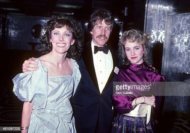 Actress Beth Howland and daughter Holly Pollard and guest attend the 36th Annual Tony Awards After Party on June 6 1982 at the WaldorfAstoria Hotel...