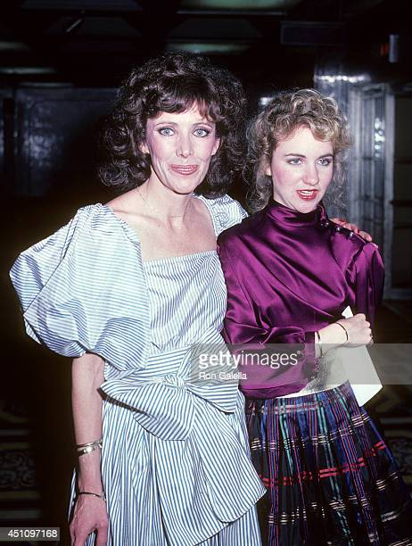 Actress Beth Howland and daughter Holly Pollard attend the 36th Annual Tony Awards After Party on June 6 1982 at the WaldorfAstoria Hotel in New York...