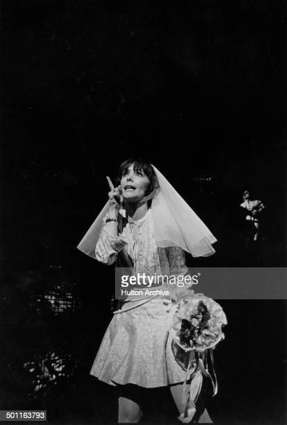 Actress Beth Howland sings during the stage play of Company in New York