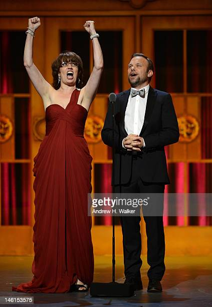 Actress Beth Leavel and Norbert Leo Butz are seen onstage at the 66th Annual Tony Awards at The Beacon Theatre on June 10 2012 in New York City