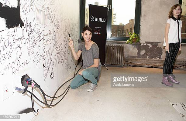 Actress Beth Malone and Sydney Lucasattends AOL Build to discuss their extraordinary portrayal of Alison Bechdel in the Tony Awardswinning Broadway...