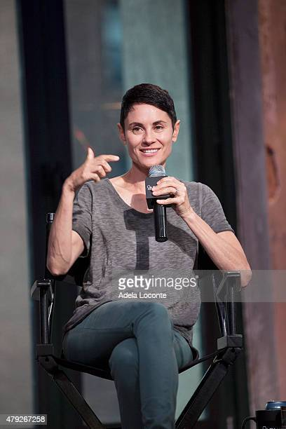 Actress Beth Malone attends AOL Build to discuss their extraordinary portrayal of Alison Bechdel in the Tony Awardswinning Broadway Musical Fun Home...