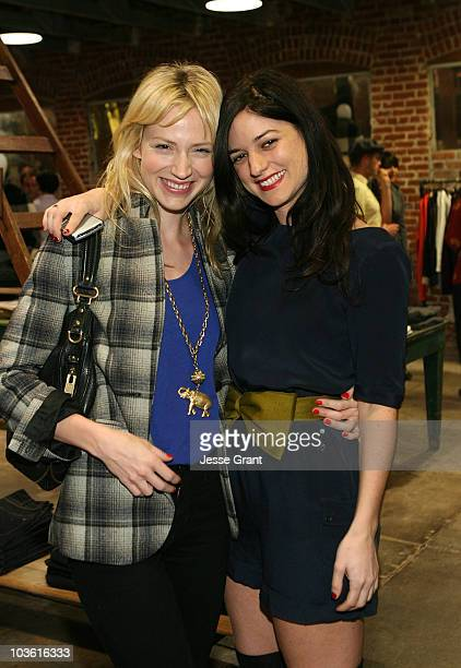 Actress Beth Riesgraf and Ilaria Urbinati attend the Confederacy Hearts Rag and Bone cocktail party held at Confederacy on November 18 2008 in Los...