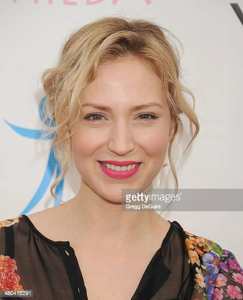 Actress Beth Riesgraf arrives at the Youth For Human Rights International Celebrity Benefit at Beso on March 24 2014 in Hollywood California