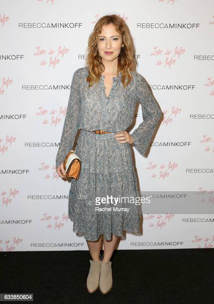 "Actress Beth Riesgraf attended designer Rebecca Minkoff's Spring 2017 ""See Now Buy Now"" Fashion Show at The Grove on February 4 2017 in Los Angeles..."