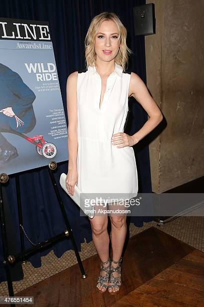 Actress Beth Riesgraf attends Deadline Hollywood's 2015 Emmy party at The Spare Room on June 9 2015 in Hollywood California