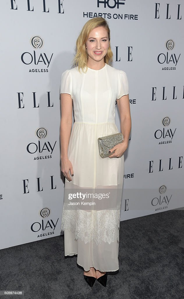 Actress Beth Riesgraf attends ELLE's 6th Annual Women In Television Dinner at Sunset Tower Hotel on January 20, 2016 in West Hollywood, California.