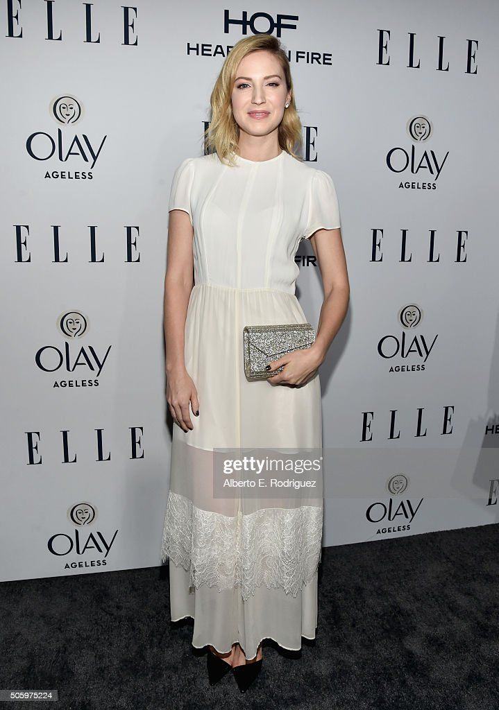 Actress Beth Riesgraf attends ELLE's 6th Annual Women in Television Dinner Presented by Hearts on Fire Diamonds and Olay at Sunset Tower on January 20, 2016 in West Hollywood, California.