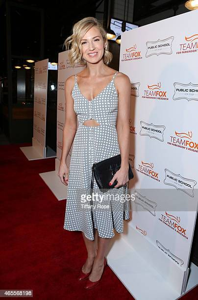 Actress Beth Riesgraf attends Raising The Bar To End Parkinson's at Public School 818 on March 7 2015 in Sherman Oaks California