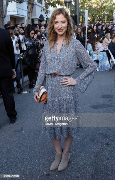 Actress Beth Riesgraf attends Rebecca Minkkoff's See Now Buy Now fashion show at The Grove on February 4 2017 in Los Angeles California
