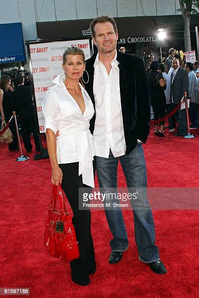Actress Beth Toussaint and husband Jack Coleman arrive at Warner Bros World Premiere of Get Smart held at the Mann Village Theatre on June 16 2008 in...