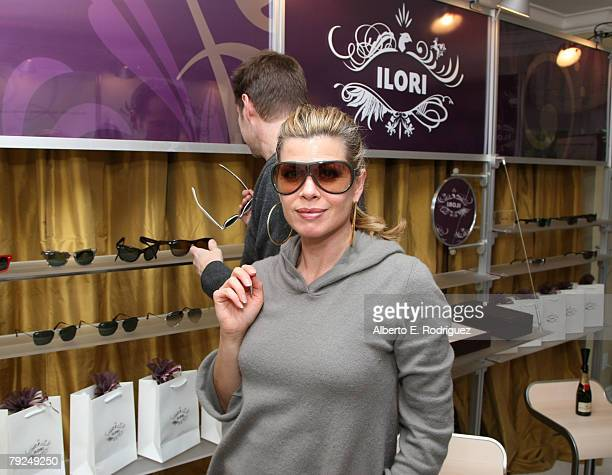 Actress Beth Toussaint attends The Luxury Lounge in honor of the 2008 SAG Awards featuring Ilori sunglasses held at the Four Seasons Hotel on January...