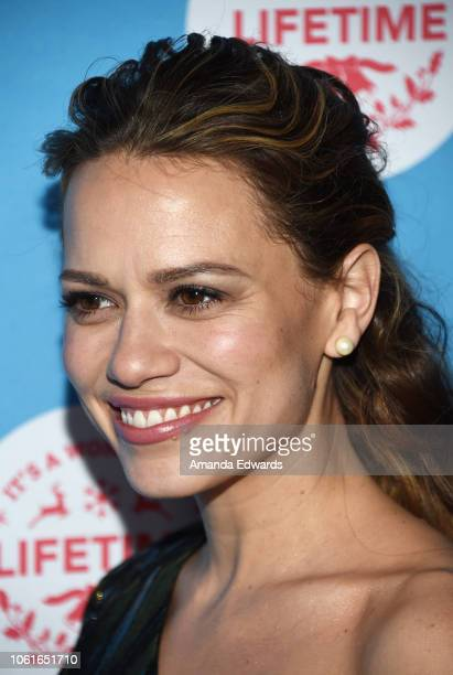Actress Bethany Joy Lenz attends the opening night celebration of the LifeSized Gingerbread House Experience at The Grove with the Stars of...