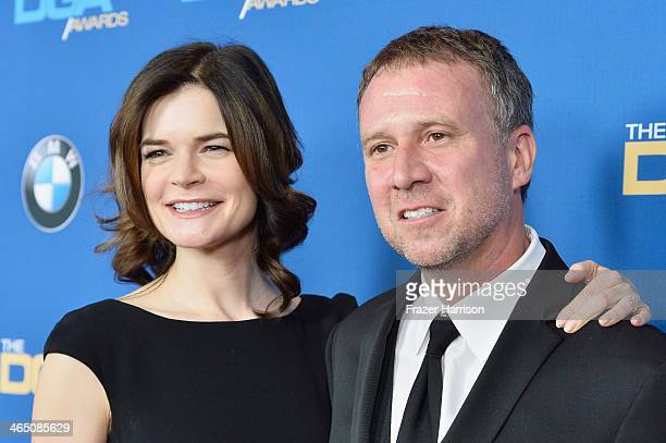 Actress Betsy Brandt and Grady Olsen attend the 66th Annual Directors Guild Of America Awards held at the Hyatt Regency Century Plaza on January 25...