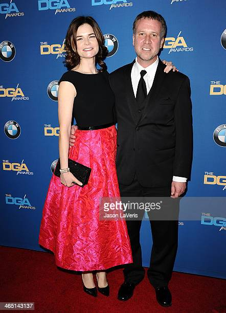 Actress Betsy Brandt and Grady Olsen attend the 66th annual Directors Guild of America Awards at the Hyatt Regency Century Plaza on January 25 2014...