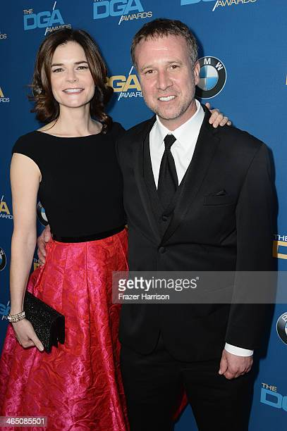 Actress Betsy Brandt and Grady Olsen attends the 66th Annual Directors Guild Of America Awards held at the Hyatt Regency Century Plaza on January 25...
