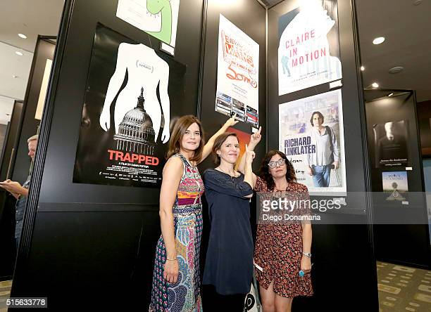 Actress Betsy Brandt and writer/directors Lisa Robinson and Lisa Robinson attend the premiere of 'Claire in Motion' during the 2016 SXSW Music Film...