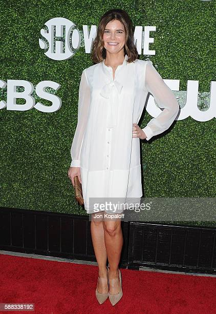 Actress Betsy Brandt arrives at CBS CW Showtime Summer TCA Party at Pacific Design Center on August 10 2016 in West Hollywood California