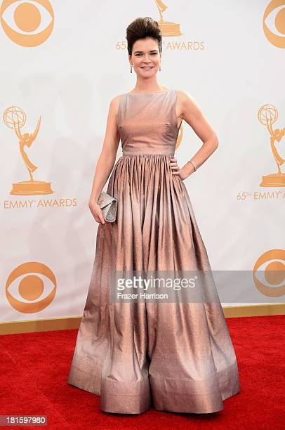 Actress Betsy Brandt arrives at the 65th Annual Primetime Emmy Awards held at Nokia Theatre L.A. Live on September 22, 2013 in Los Angeles,...
