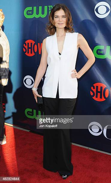 Actress Betsy Brandt arrives at the CBS, The CW, Showtime & CBS Television Distribution 2014 Television Critics Association Summer Press Tour at...