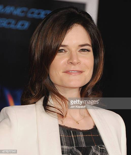 Actress Betsy Brandt arrives at the Los Angeles Premiere 'Need For Speed' at TCL Chinese Theatre on March 6 2014 in Hollywood California