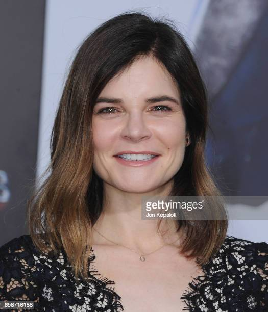 Actress Betsy Brandt arrives at the Los Angeles Premiere Power Rangers at the Westwood Village Theater on March 22 2017 in Westwood California