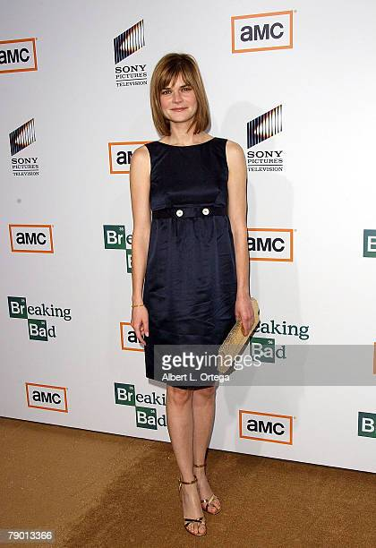 Actress Betsy Brandt arrives at the Premiere Screening of AMC's new Sony Pictures' Television drama Breaking Bad held on January 15 2008 at The Cary...