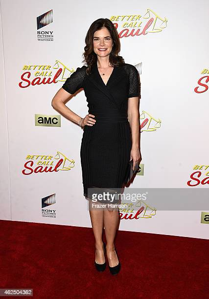 Actress Betsy Brandt arrives at the Series Premiere Of AMC's 'Better Call Saul' at Regal Cinemas LA Live on January 29 2015 in Los Angeles California
