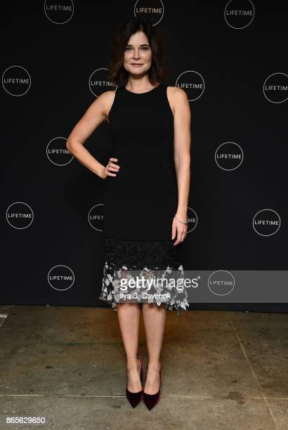 Actress Betsy Brandt attends Lifetime and NeueHouse Women's Forum Present FLINT with cast and real life residents at NeueHouse Madison Square on...