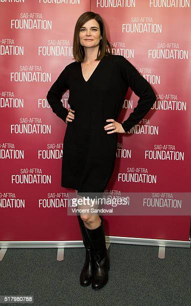"""Actress Betsy Brandt attends SAG-AFTRA Foundation Conversations for """"Life In Pieces"""" at SAG-AFTRA Foundation on March 28, 2016 in Los Angeles,..."""