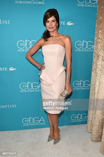 Actress Betsy Brandt attends the 17th Costume Designers Guild Awards with presenting sponsor Lacoste at The Beverly Hilton Hotel on February 17 2015...