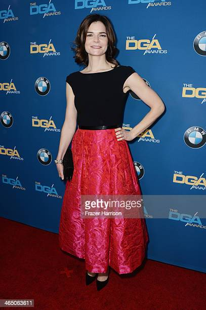 Actress Betsy Brandt attends the 66th Annual Directors Guild Of America Awards held at the Hyatt Regency Century Plaza on January 25 2014 in Century...