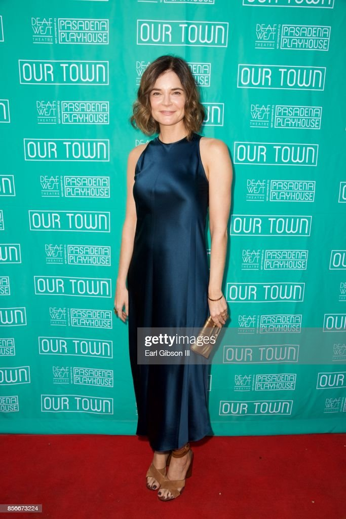Actress Betsy Brandt attends the Pasadena Playhouse And Deaf West Theatre's 'Our Town' Opening Night at Pasadena Playhouse on October 1, 2017 in Pasadena, California.