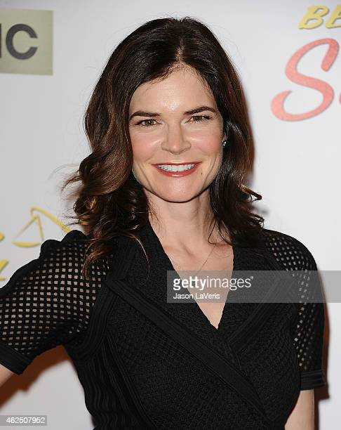 Actress Betsy Brandt attends the premiere of 'Better Call Saul' at Regal Cinemas LA Live on January 29 2015 in Los Angeles California