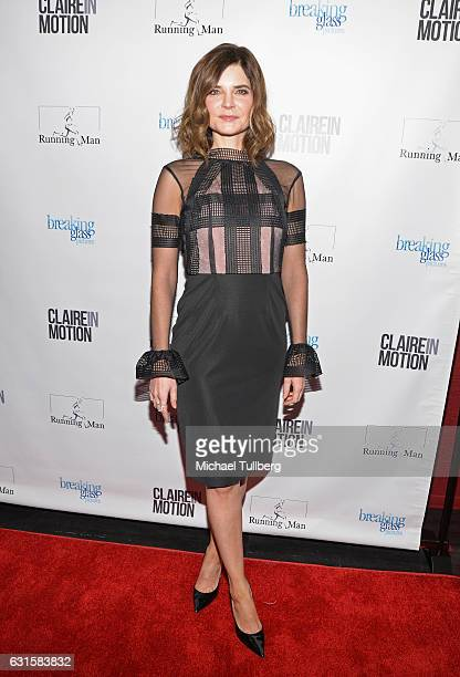 Actress Betsy Brandt attends the premiere Of Breaking Glass Pictures' 'Claire In Motion' at Laemmle Monica Film Center on January 12 2017 in Santa...