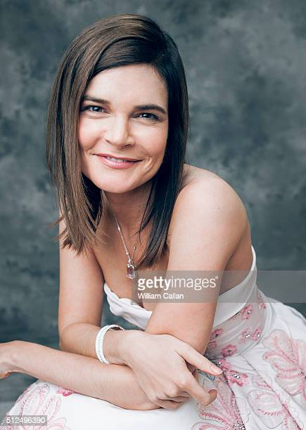 Actress Betsy Brandt poses for a portrait at the 18th Costume Designers Guild Awards at The Beverly Hilton Hotel on February 23 2016 in Beverly Hills...