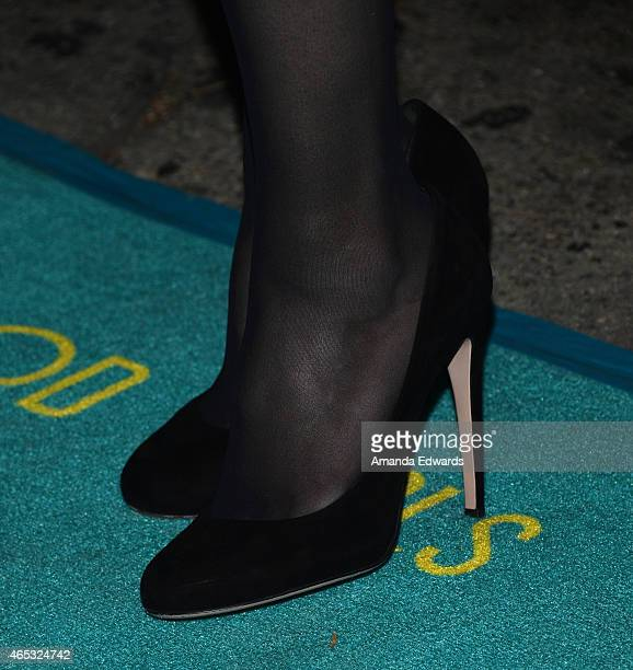 Actress Betsy Brandt shoe detail arrives at the 2nd Annual Hollywood Heals Spotlight On Tourette Syndrome event at the House of Blues Sunset Strip on...