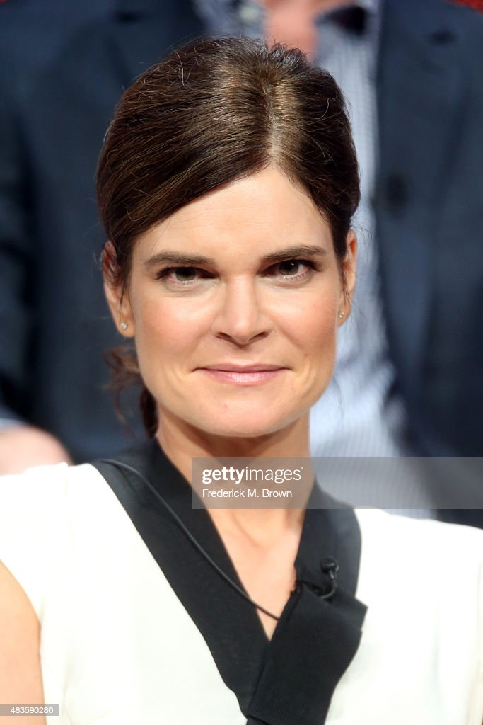 Actress Betsy Brandt speaks onstage during the 'Code Black' panel discussion at the CBS portion of the 2015 Summer TCA Tour at The Beverly Hilton Hotel on August 10, 2015 in Beverly Hills, California.