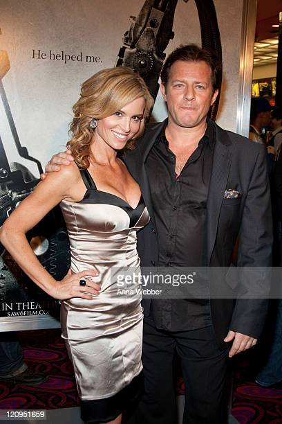 Actress Betsy Russell and actor Costas Mandylor attend the Saw VI Special Screening at Mann Chinese 6 on October 22 2009 in Los Angeles California