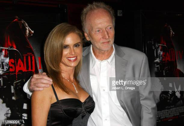 Actress Betsy Russell and actor Tobin Bell arrive at the Los Angeles cast and crew screening of Lionsgate's SAW IV held at Mann's Chinese 6 Theater...