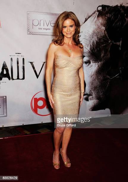 Actress Betsy Russell arrives at Saw V Las Vegas Premiere Arrivals at Planet Hollywood Hotel and Casino on October 23 2008 in Las Vegas Nevada