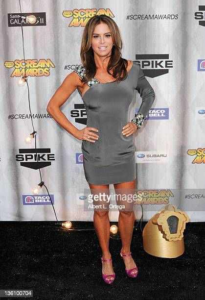 Actress Betsy Russell arrives at Spike TV's 'Scream Awards 2011' at Universal Studios Backlot on October 15 2011 in Universal City California