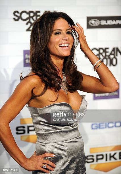 Actress Betsy Russell arrives at the 5th annual �Scream Awards� at the Greek Theatre in Los Angeles California on October 16 2010 AFP PHOTO / GABRIEL...