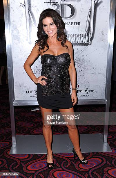Actress Betsy Russell arrives at the special Los Angeles friends and family screening of Lionsgate's Saw 3D at the Mann's Chinese 6 on October 27...
