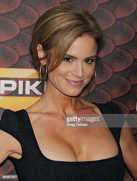 Actress Betsy Russell arrives at the Spike TV's Scream 2008 Awards at The Greek Theater on October 18 2008 in Los Angeles California