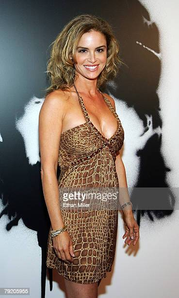 Actress Betsy Russell arrives at the world premiere of the movie Rambo at the Planet Hollywood Resort Casino January 24 2008 in Las Vegas Nevada The...